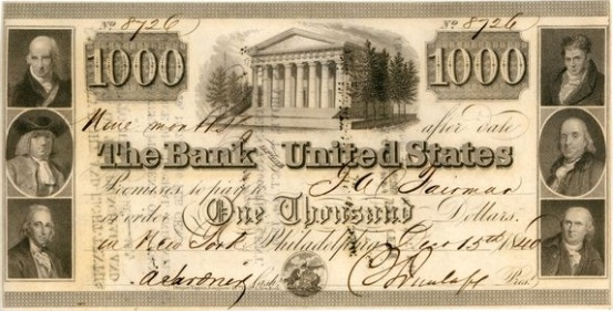 bankers wars-10 2nd bank us note