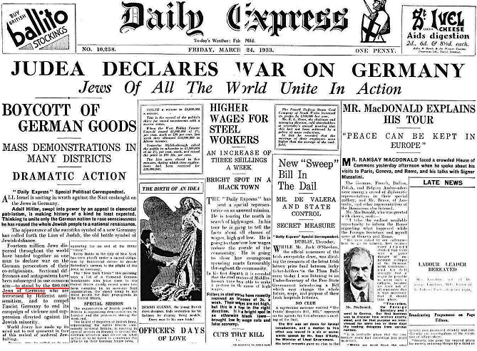 bankers wars-25 judea declares war on germany
