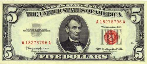 bankers wars-29 united states note